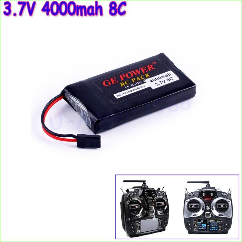 1pcs GE Power Lipo Battery 3.7V 4000mah 8C Li-Po Battery For Graupner Transmitter Li-poly Battery wholesale 1pcs 100% orginal firefox 11 1v 1500mah 15c li po aeg airsoft battery f3l15c drop shipping