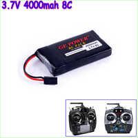 GE Power Lipo Batteria 3.7 v 4000 mah 8C Li-Po Batteria Per Graupner Trasmettitore Li-poly Batteria commercio all'ingrosso