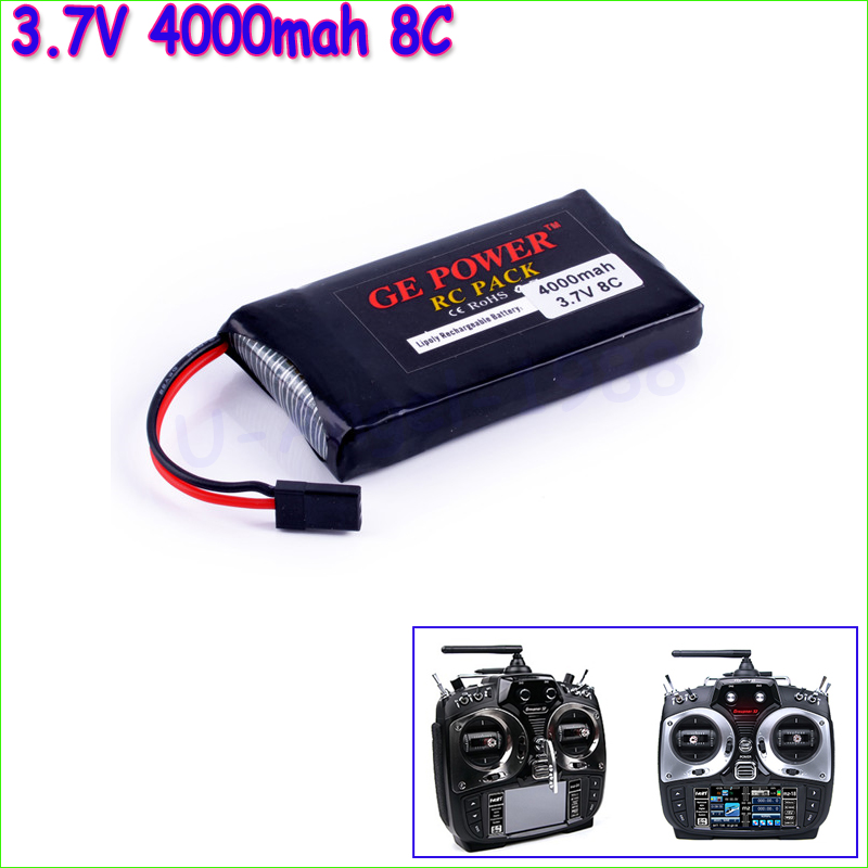 GE Power Lipo Battery 3.7V 4000mah 8C Li-Po Battery For Graupner Transmitter Li-poly Battery  Wholesale