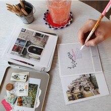 iron tin box packing Korea Indigo Polaroid Postcard set design of beautiful cities like Paris,London,Praha,Italia,Tokyo