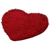 לב אדום מחצלת שטיח חדר שינה חדר האמבטיה שטיח שניל רך רך