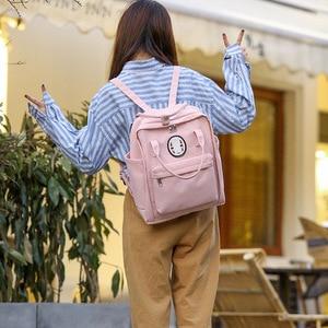 Image 3 - 2020 New Nylon Printing School Bag For Teenagers Girls Student High Quality Women Travel Laptop School Backpacks Female Book Bag
