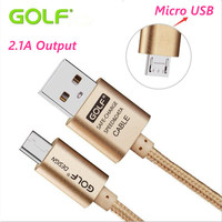 Original Golf Micro 2 1A 3M Metal Braided Cord Data Sync Wire Charger USB Cable Charger