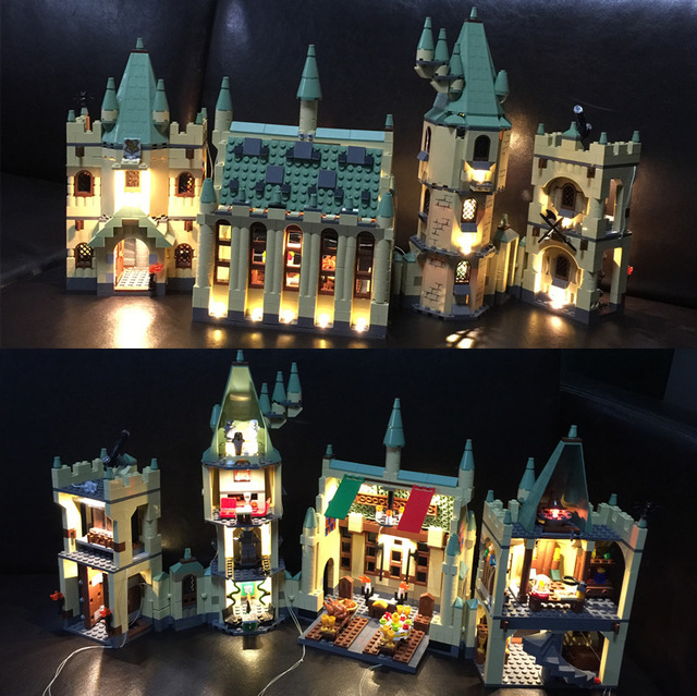 Led Light Kit For lego Hogwarts Castle School building set Compatible With 4842 and 16030 (NOT Include The Model)