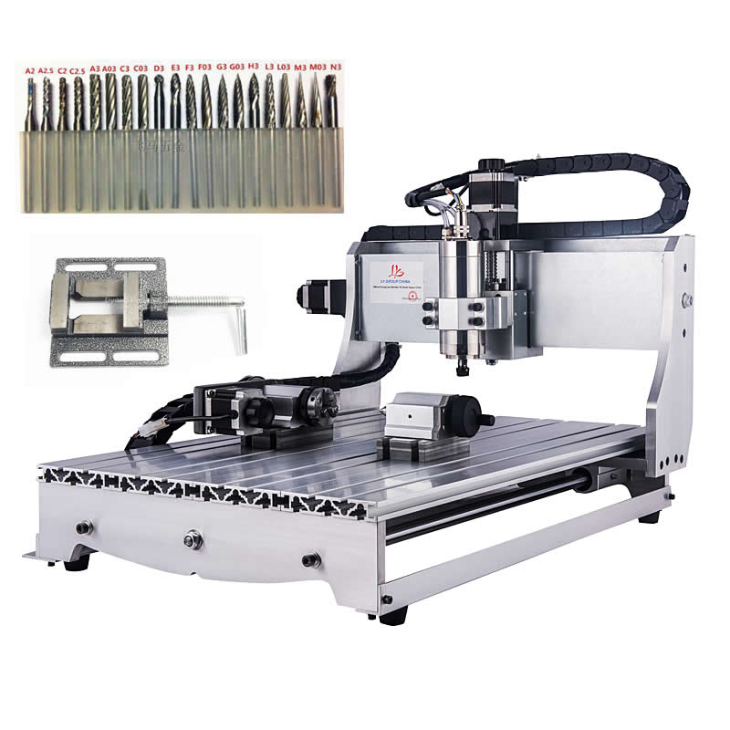 4axis CNC cutting machine 6040 0.8KW VFD water cooling spindle mach3 wood router4axis CNC cutting machine 6040 0.8KW VFD water cooling spindle mach3 wood router