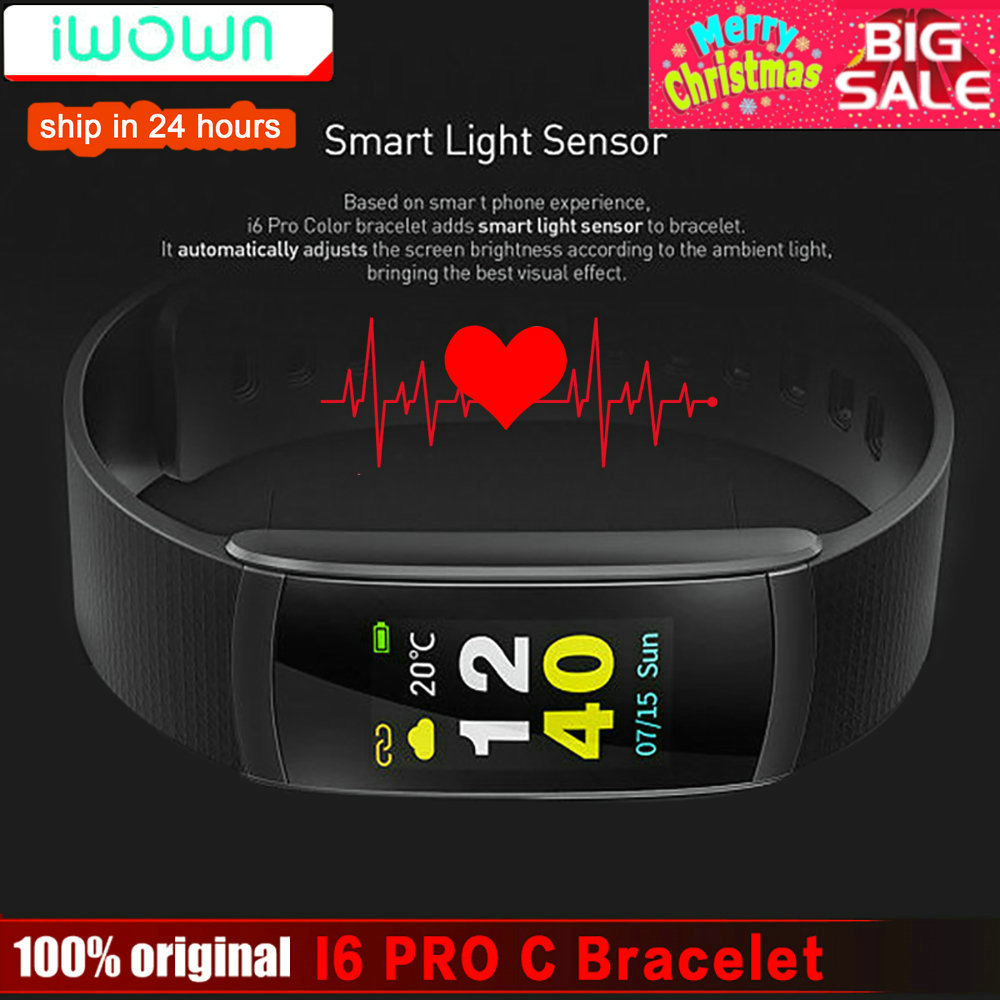 IWOWNfit i6 Pro C pulsera inteligente IP67 impermeable banda de Fitness Monitor de ritmo cardíaco iwown I6 Pro pantalla a Color para IOS teléfono Android