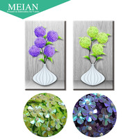 Meian Special Shaped Diamond Embroidery Flower Vase 5D Diamond Painting Cross Stitch 3D Diamond Mosaic Decoration