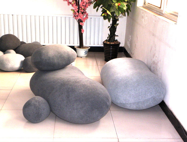 150cm BIG PRETTY LIVING STONES SHAPE PILLOW TOY/CUSHION COVERS TOY (WITHOUT  STUFFING)