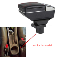 Armrest Box Center Storage Box With Cup Holder Ashtray Stowing Tidying Arm Rest Rotatable For Toyota Vios 2004-2008 Car-styling