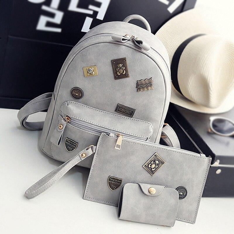 fashion women leather backpacks badge element feminine school bag for girls composite bags appliques female backpacks satish kumar mishra finite element analysis of composite laminates
