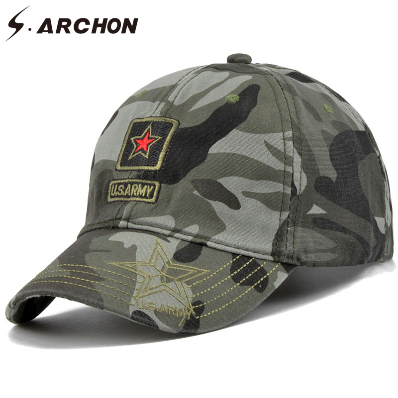S.ARCHON US Navy Seal Militar Camouflage Baseball Cap Men Embroidery Cotton Tactical Hat Unisex Red Star Snapback Camo Army Caps 35colors silver gold soild india scarf cap warmer ear caps yoga hedging headwrap men and women beanies multicolor fold hat 1pc