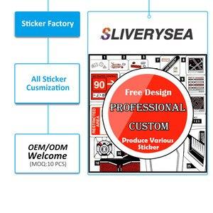 Image 4 - SLIVERYSEA parę piękne oczy naklejki naklejki samochodowe obejmujące ciała mody etykiety winylowe Car Styling czarny/srebrny