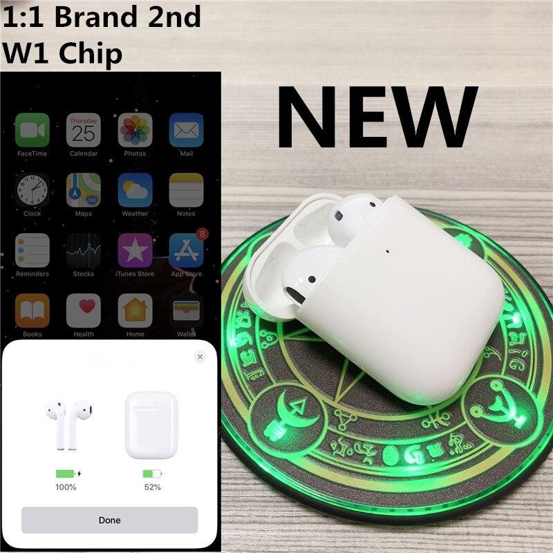 1:1 marque 2nd avec air sans fil étui de charge Bluetooth casque stéréo musique écouteur pour iPhone téléphone intelligent PK W1 puce pods 2