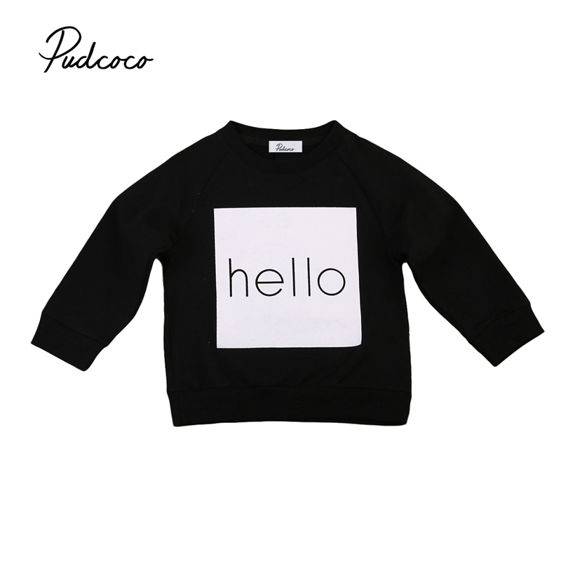Hoodies Sweatshirt Newborn Infant Girls Baby-Boys Children's Cotton Letter And Long-Sleeve