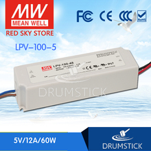 цена на (Only 11.11)MEAN WELL LPV-100-5 (2Pcs) 5V 12A meanwell LPV-100 5V 60W Single Output LED Switching Power Supply
