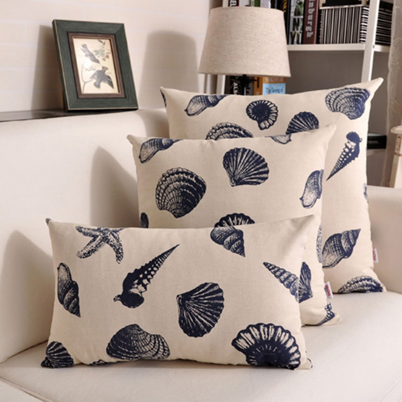 3 Kinds Size For Choose Cushion Cover Pillowcase Sea Shell Throw Pillow Case For Sofa Car Home Decor F
