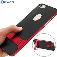 Ollivan Luxury Kickstand Phone Case For Iphone 7 Case Silicon Soft TPU Slim Back Cover For