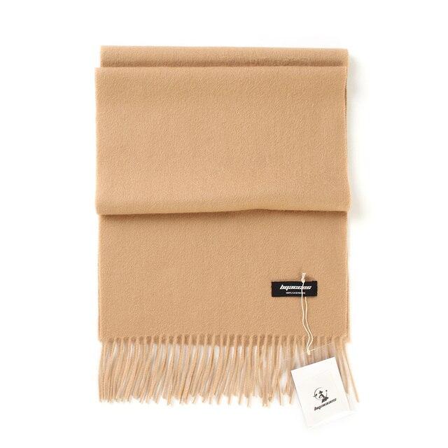 Bufandas de Cachemira de 100% liso para mujer, pañuelo grueso y cálido con borlas, para invierno, gran oferta