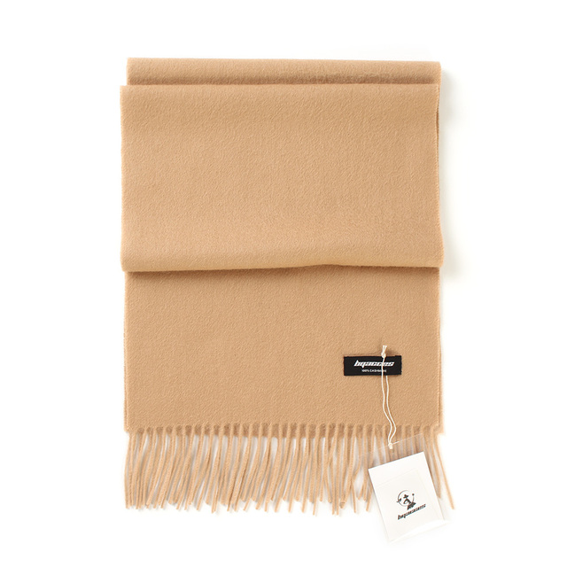 Women solid color plain 100% cashmere scarves with tassel lady winter thick warm scarf luxury high quality female shawl hot sale