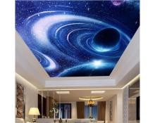 Customized photo wallpaper 3d wall ceiling wallpaper Star sky cosmic ceiling zenith mural wall papers for living room decoration цены