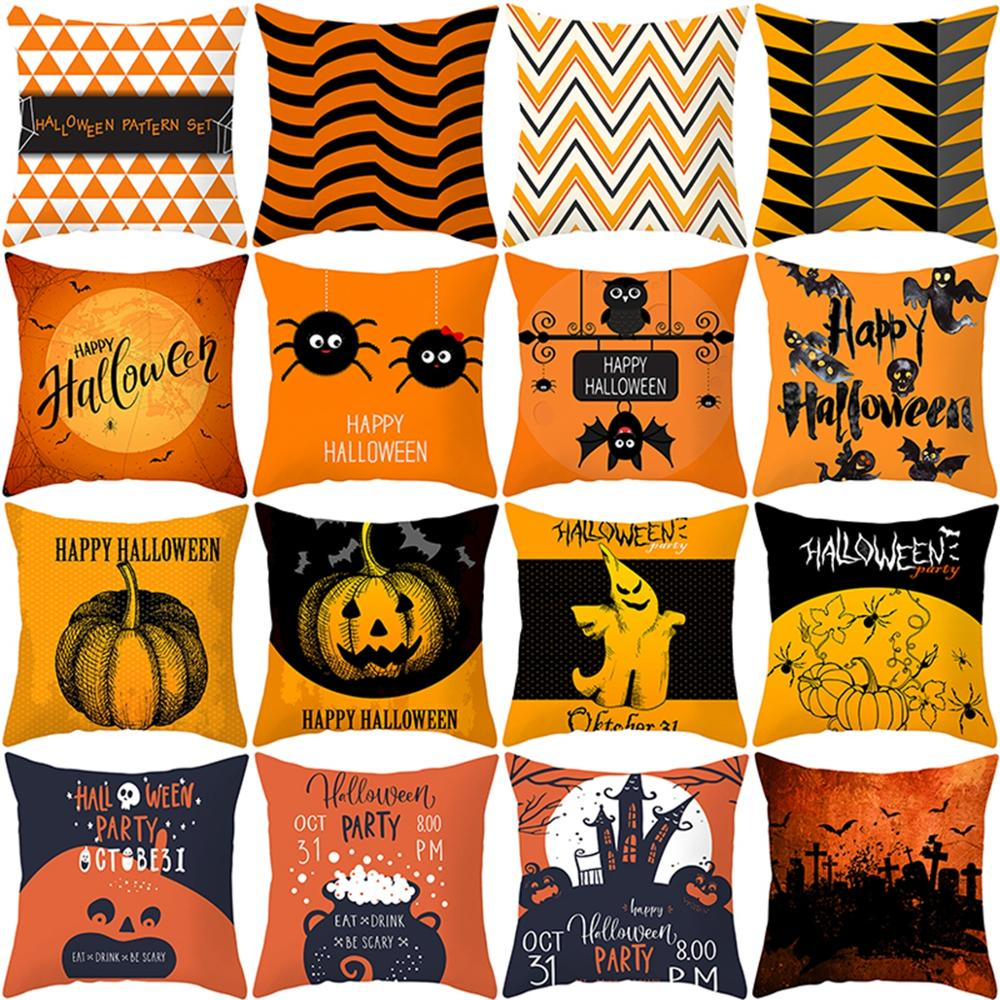 Pumpkin Cushion Cover Halloween Decoration Happy Party Supplies 2019 Decor For Home Accessories