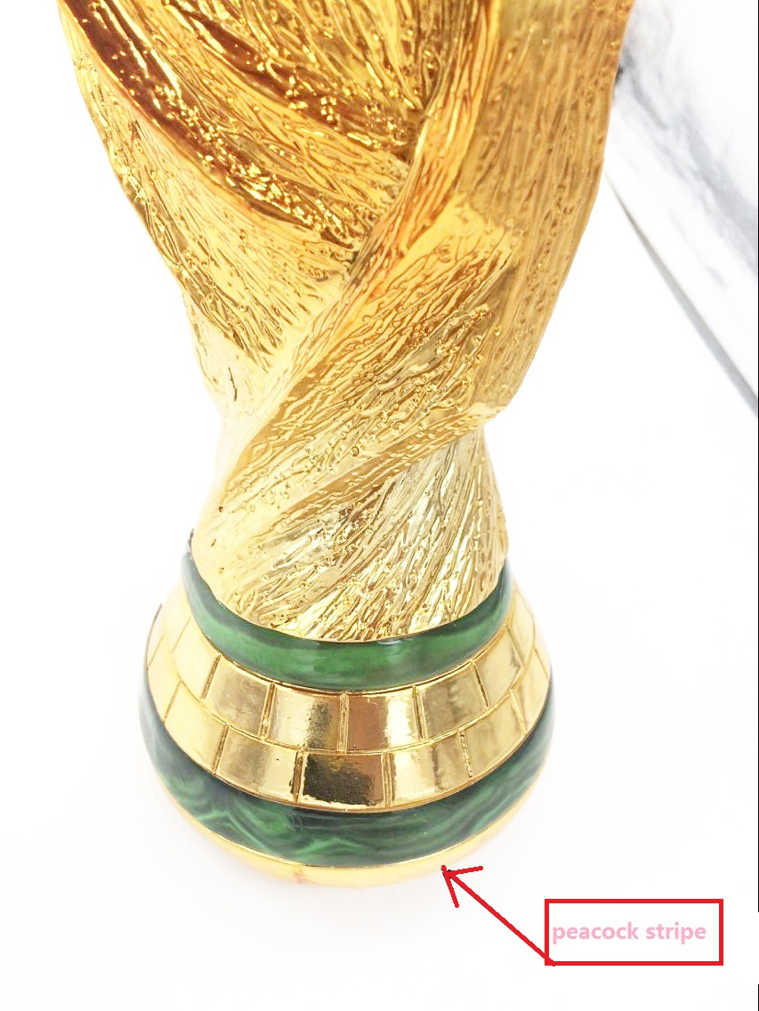 2018 russian Marble Effect top quality full size 37cm 2KG brazil world trophy cup 2018 Football Champion Award world cup in south africa world cup model european soccer cup trophy custom football fans articles