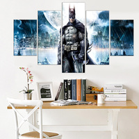 5Panel DC Comics Movie HD Print Batman Creative Oil Painting On Canvas Art Modern Modular Wall