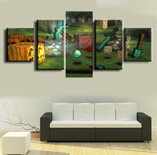 5 Pieces Canvas Painting Wall Art Living Room Artwork HD Print Picture Minecraft Game Modern Home Decor
