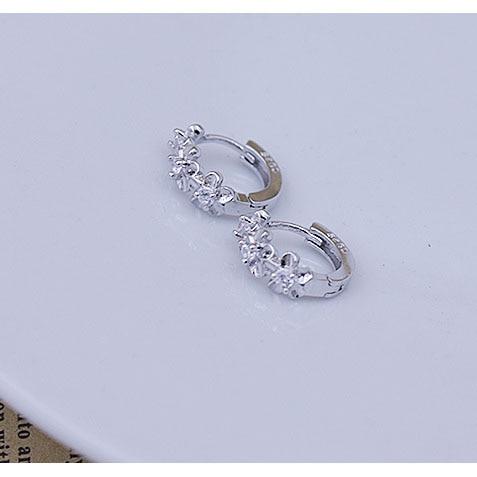 Top Sale 925 Sterling Zilver Oorbel Geweven Bloemen Vorm Oorringen - Fijne sieraden - Foto 5
