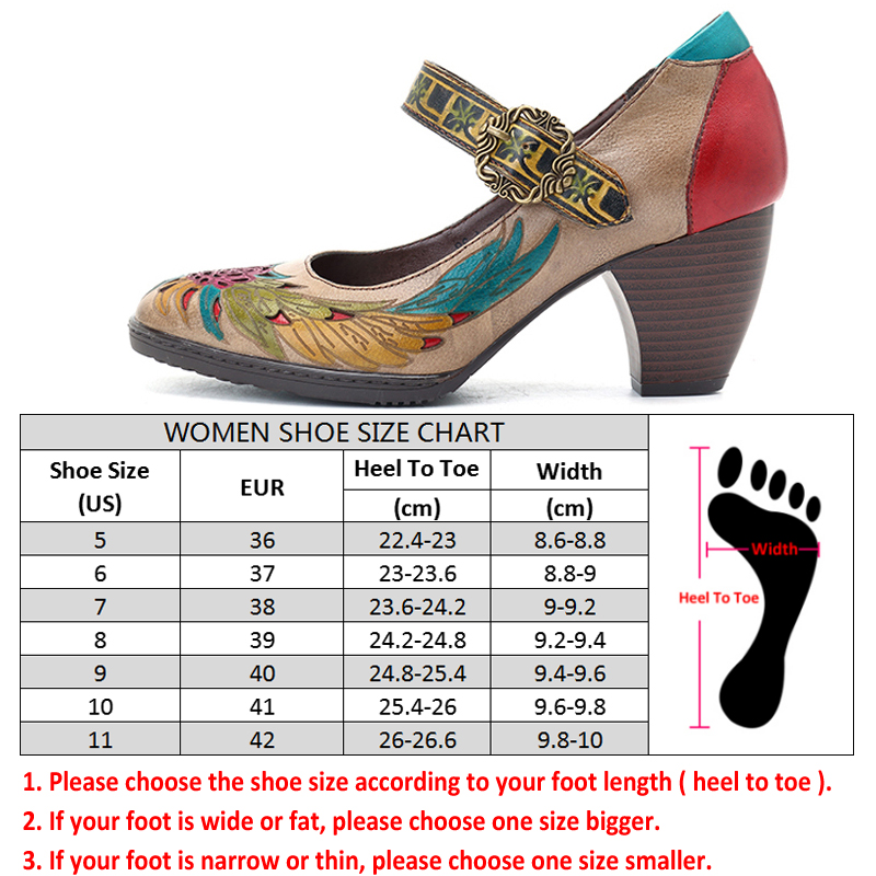 Socofy Retro Pumps Women Shoes Genuine Leather Buckle Mary Jane Shoes Heels Summer Spring Vintage Party Wedding Ladies Shoes New