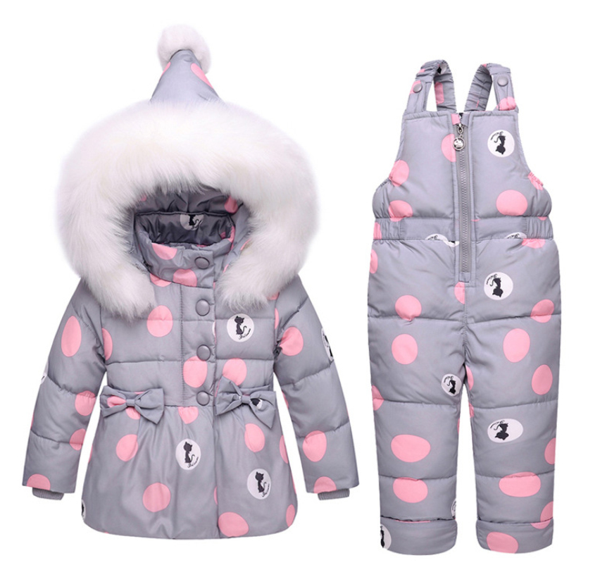 1cb7b19f5 2018 new Winter children clothing sets girls Warm parka down jacket ...