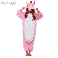 Adult Unicorn Onesie Women Kigurumi Unicorn Pajamas Anime Cosplay Costume Pokemon Party Animal Couple Sleepwear Warm
