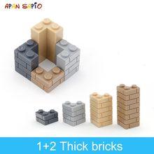Blocs de construction pour enfants, 60 pièces, briques à paroi épaisse, 1 + 2 points, éducatif, créatif, Compatible avec 98283 jouets