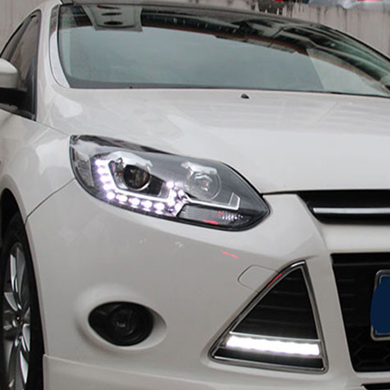 LED headlights For focus 2012 2013 2014 Bifocal lens H7 xenon head lamps For Focus LED