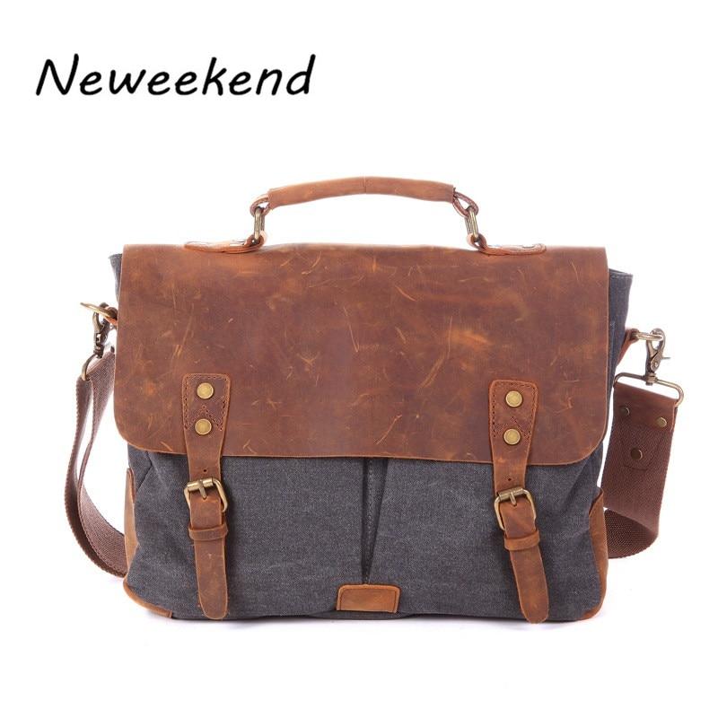 ФОТО NEWEEKEND Unisex Canvas Waterproof Large Capacity Zipper Laptop Luggage Travel Crossbody Bag MS1807