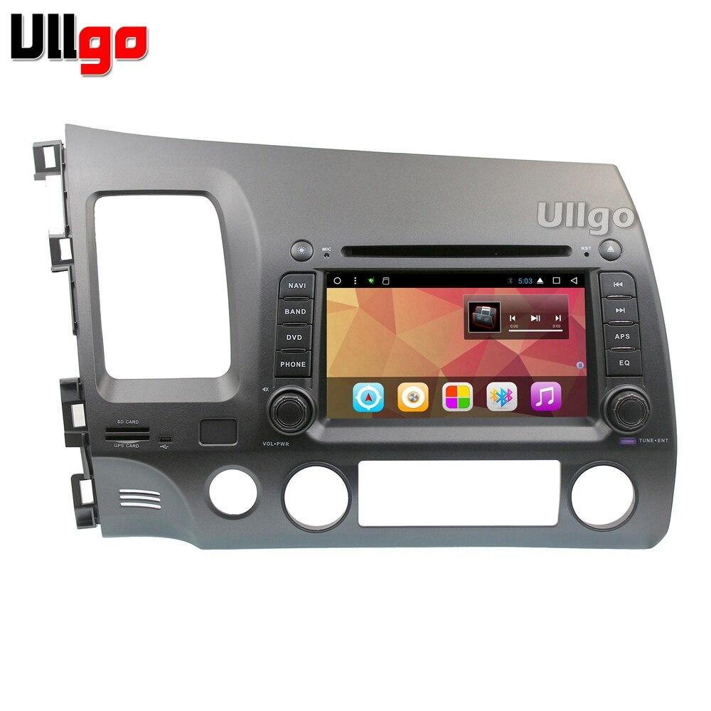 Octa base Android 7.1 Autoradio GPS Navi pour Honda Civic Autoradio GPS avec BT Radio RDS Wifi Miroir- lien 8 gb carte carte