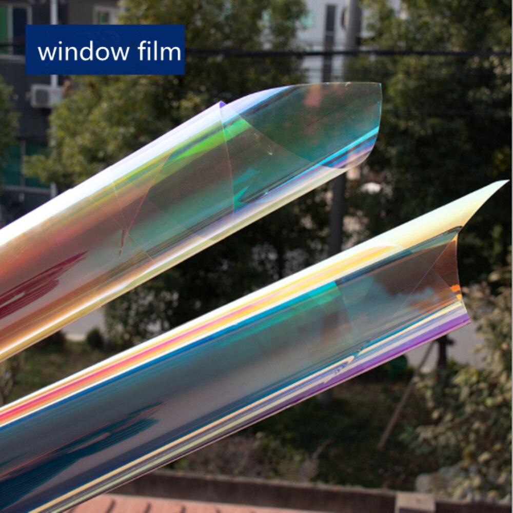 HOHOFILM 1.37x6 m 2 couleurs effet arc-en-ciel dichroïque irisé verre Film fenêtre Film bâtiment maison DecorationStore 54 ''x 236.2''