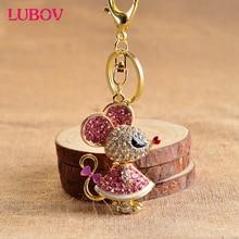 Мыши роскошные брелок и кольцо для ключей держатель для ключей порте скрипичный ключ подарок Для мужчин Для женщин Сувениры сумка подвеска автомобиля