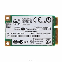 2,4 GHz & 5,0 GHz 5300 533AN_MMW Wireless WLAN WiFi Mini PCIe Karte 802,11 n + 450Mbps Gerät Modul wiFi Link Karte