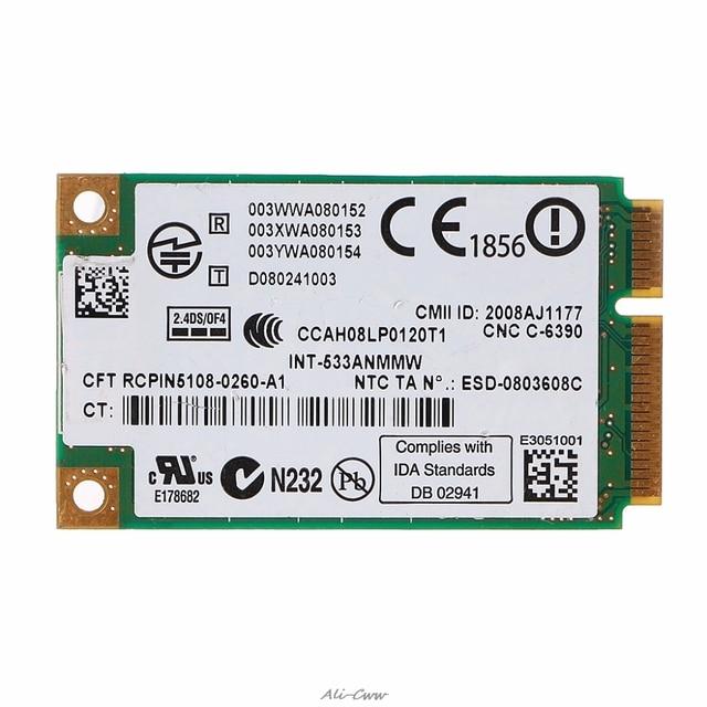 2.4 GHz ve 5.0 GHz 5300 533AN_MMW Kablosuz WLAN WiFi Mini PCIe Kart 802.11n + 450 Mbps Cihazı Modülü WiFi bağlantı Kartı