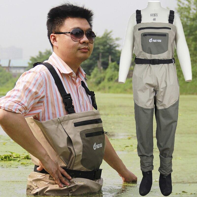 Neygu Дышащий Stockingfoot болотный комбинезон, изолированные охота и рыбалка Вейдер с флисовой подкладкой руки теплые карман