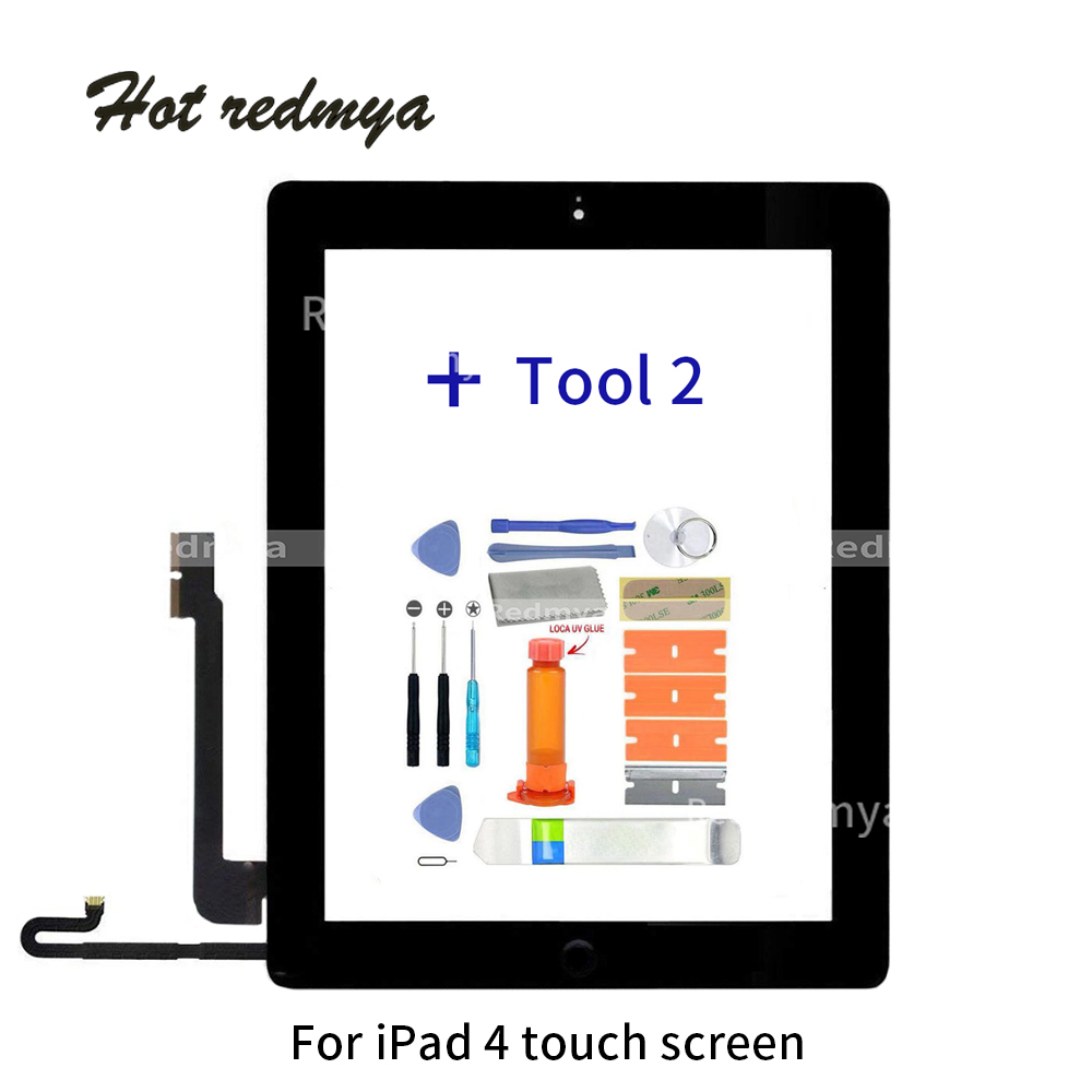 9.7 Touch Screen  For Apple iPad 4 A1458 A1459 A1460 Digitizer Touch Screen Front Glass Lens with Home Button +Repair Tools9.7 Touch Screen  For Apple iPad 4 A1458 A1459 A1460 Digitizer Touch Screen Front Glass Lens with Home Button +Repair Tools