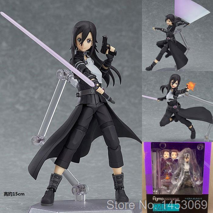 Anime Sword Art Online Kirigaya Kazuto Figma 248 PVC Action Figure Collectible Model Toy 15cm KT1685 metal gear solid action figure sons of liberty figma 298 soldier pvc toy 16cm anime games figures snake collectible model doll
