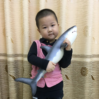 Simulated Marine Animal Model Toys New 55 cm Super Soft Glue Simulated Great White Shark