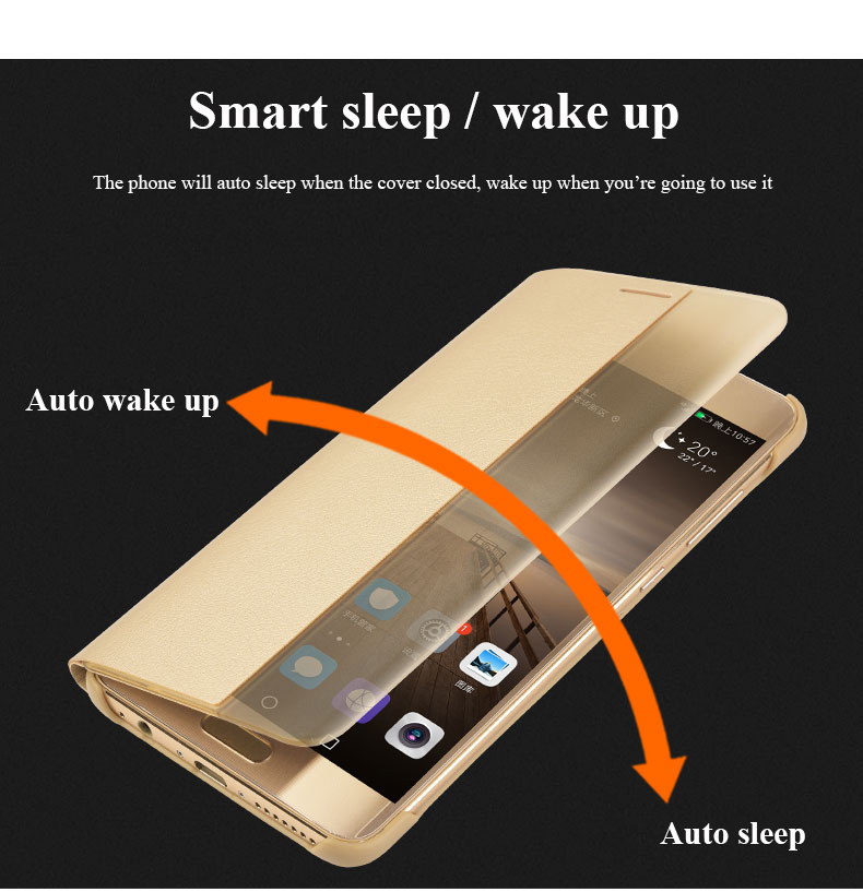 Smart Cover For Huawei P20 P 20 Case P20 Pro Flip Smart Window View Phone Cases For Huawei Mate 10 Pro P10 Plus Mate 9 Pro Cover in Flip Cases from Cellphones Telecommunications