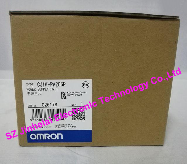 100% New and original  CJ1W-PA205R  OMRON  POWER SUPPLY UNIT  Power module new and original e3x da11 s omron optical fiber amplifier photoelectric switch 12 24vdc