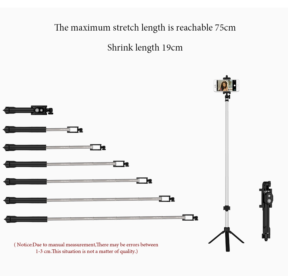 Bluetooth Selfie Stick Tripod (6)