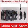 Adaptador de Lente Da câmera Lente Macro Reversa Anel de Proteção para 5D 7D 60D 70D 600D 650D 700D 1200D Reinstalar UV tampa da lente Filtro capô