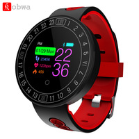 Kobwa Q8 Plus Bluetooth Smart Bracelet Watch Healthy Sports Swimming Heart Rate Blood Pressure Monitor IP68 Waterproof Wristband