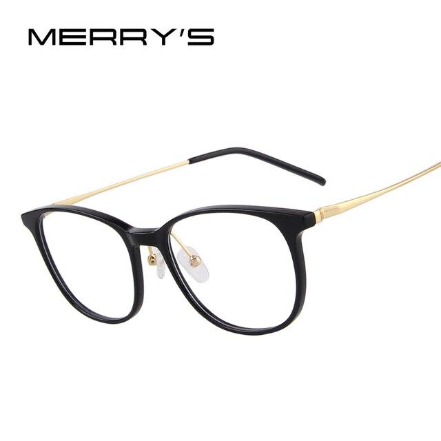 09a9aa674 MERRYS PROJETO Mulheres Moda Óculos Armações Óculos de Radiação-resistente  S2078